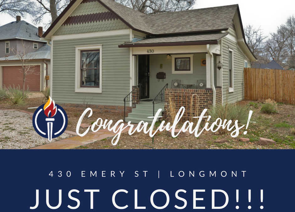 Just Sold! Historic East Old Town Longmont – 430 Emery St.